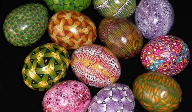 polymer clay eggs